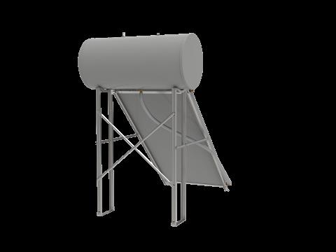 Konstrukcija i set za spajanje za ravni krov za termosifonski komplet 150L spremnik + 1 kolektor