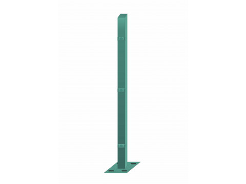Stup sa pločicom kvadratni sa tri spojnice i kapom, 1550mm 40x40 tamno zelena