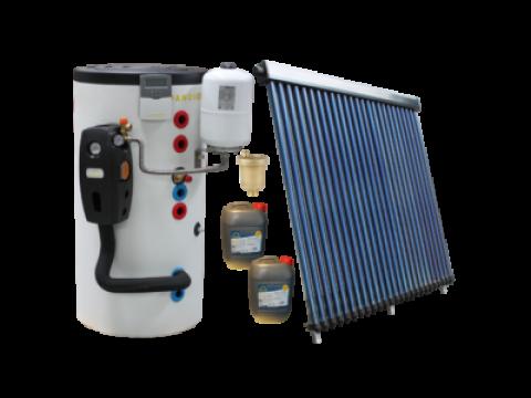 SOLARNI SET ZA ZAGRIJAVANJE VODE - 20 solarnih cijevi , 200L spremnik, kontroler, pumpna stanica i ostalo