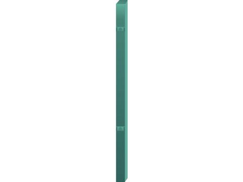 Stup za ugradnju u beton kvadratni sa dvije spojnice i kapom, 1500mm 40x40 tamno zelena