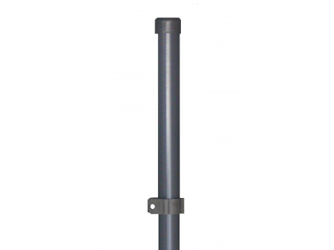 Stup sa pločicom okrugli fi 48 1550mm tamno siva antracit