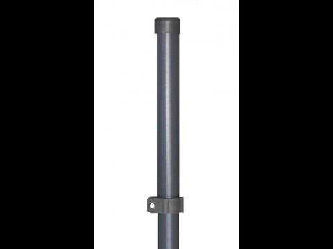 Stup sa pločicom okrugli fi 48 1250mm tamno siva antracit