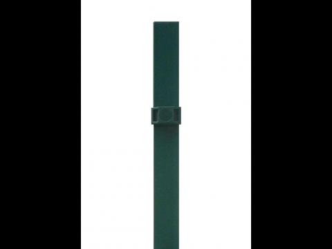 Stup za ugradnju u beton kvadratni sa tri spojnice i čepom, 2200mm 50x50 tamno zelena