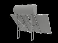 Konstrukcija i set za spajanje cijevi za ravni krov za termosifonski komplet 300L spremnik +2 kolektora