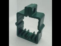 Obujmica za kvadratni stup 50x50 sa vijkom tamno zelena RAL. 6005
