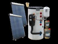 SOLARNI SET ZA ZAGRIJAVANJE VODE - 30 solarnih cijevi , 300L spremnik, kontroler, pumpna stanica i ostalo