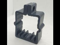 Obujmica za kvadratni stup 50x50 sa vijkom antracit RAL. 7016