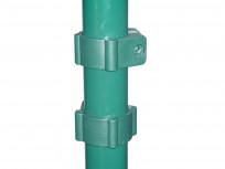 Spojnica za okrugli stup fi 48 s vijkom i maticom za tamno zelena