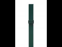Stup sa pločicom kvadratni sa dvije spojnice i čepom, 1250mm 40x40 tamno zelena