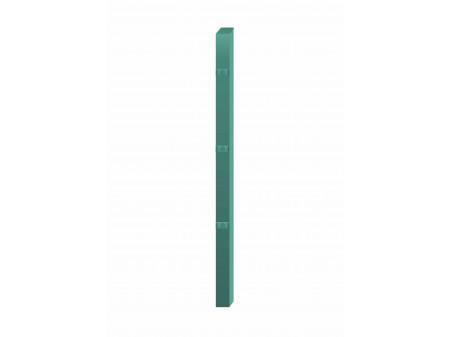 Stup za ugradnju u beton kvadratni sa tri spojnice i kapom, 2000mm 40x40 tamno zelena