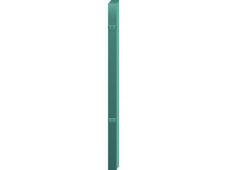 Stup za ugradnju u beton kvadratni sa dvije spojnice i kapom, 1700mm 60x60 tamno zelena