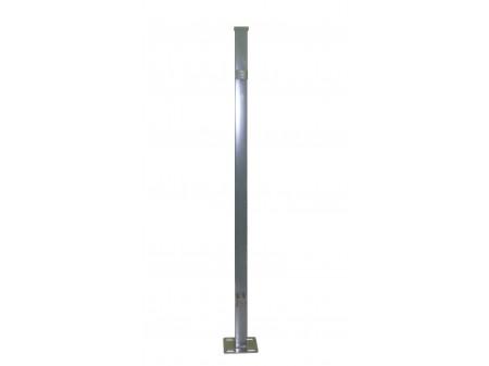 OŠTEĆENO; Stup sa pločicom kvadratni sa dvije spojnice i čepom, 1250mm 40x40  tamno siva