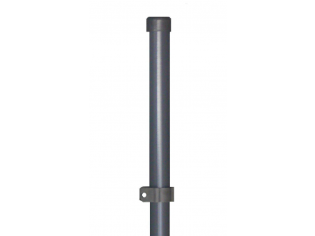 Stup sa pločicom okrugli fi 48 2050mm tamno siva antracit