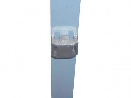 Spojnica za kvadratni stup bez vijka za tamno sivu antracit