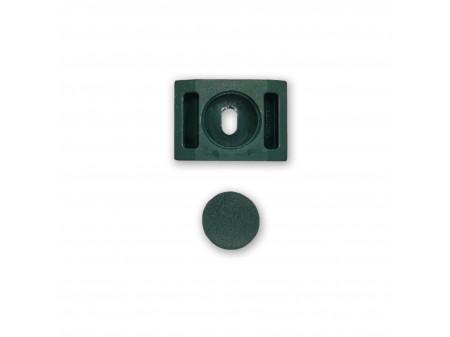 Spojnica za kvadratni stup bez vijka tamno zelena