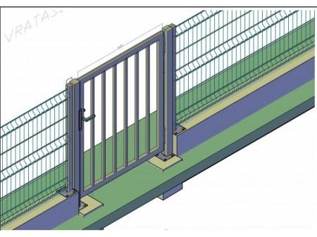Pješačka vrata 1000x1400mm  tamno zelena