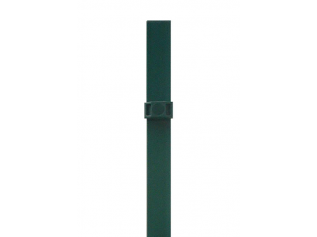 Stup za ugradnju u beton kvadratni sa dvije spojnice i čepom, 1500mm 40x40 tamno zelena