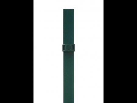 Stup za ugradnju u beton kvadratni sa tri spojnice i čepom, 2000mm 60x60 tamno zelena