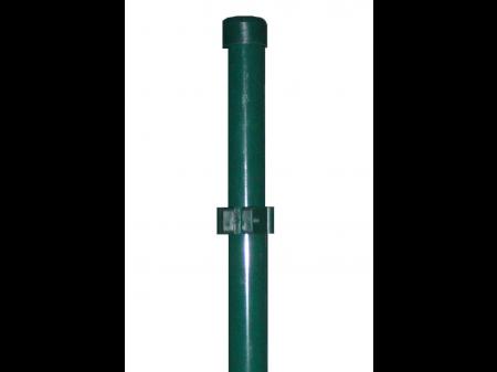 Stup sa pločicom okrugli fi 48 2050mm tamno zelena